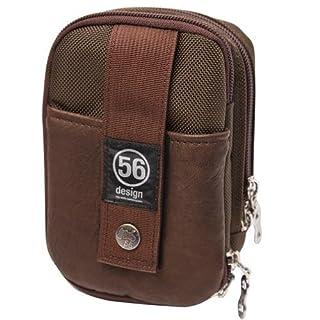 56design(フィフティーシックスデザイン) BALLISTICS X 56DESIGN RIDERS WAIST PORCH(ライダースウエストポーチ) ブラウン