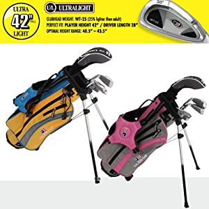 US Kids ULTRALIGHT 42 4-Club Carry Bag Set (Left Hand) by US Kids