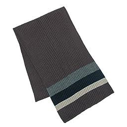 CTM® Mens Wool Blend Striped Winter Scarf, Brown