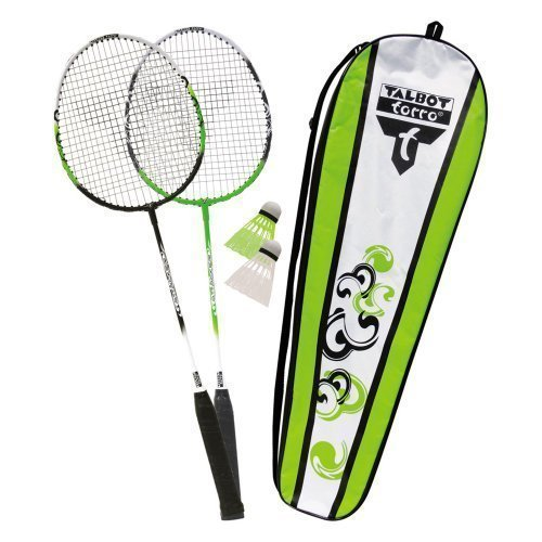 new-badminton-sports-talbot-torro-outdoor-playing-attacker-2-player-complete-set