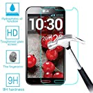 LG G Pro F240 E980 E985 Real Tempered Glass Screen Protector Guard,Bubble-free Anti-Scratch Ultra Clear 9H Premium Tempered Glass 0.26mm HD Screen Protector Film for LG Optimus G Pro F240 E980 E985