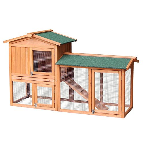 btm-the-grove-double-decker-rabbit-guinea-pig-hutch-with-integrated-run