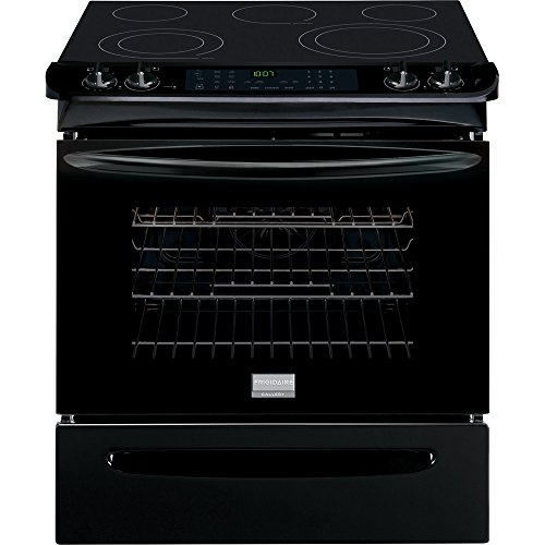 """Frigidaire Fges3065Pb Gallery 30"""" Black Electric Slide-In Smoothtop Range - Convection"""