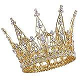 Tiara Diadema Con Rhinestones Para Fiesta Boda Novia Boda Corona de cristal Prom Party (17)