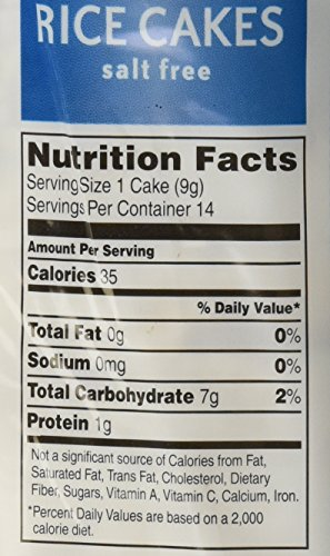 Rice Cakes Food Label