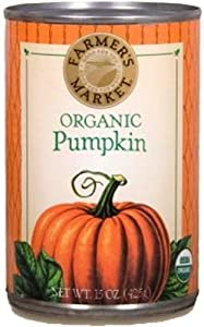 Farmers Market Organic Pumpkin, 15-Ounce (Pack of 12)