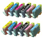 12 Pack (2 of each color) CLI-8