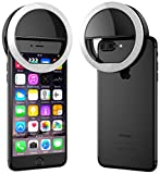 #7: ELV 3 Modes Selfie Beauty Ring Light (Rechargeable) LED Flash White Light For iPhone, Android & iPad Series - Black