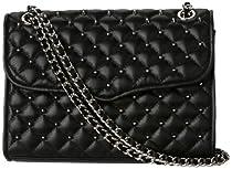 Hot Sale Rebecca Minkoff Affair-Diamond Quilt and Stud H332E001 Shoulder Bag,Black,One Size