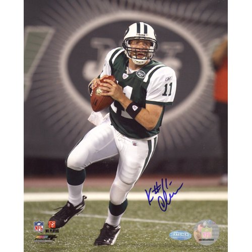 Steiner Sports NFL New York Jets Kellen Clemens Stepping Up in the Pocket Vertical 8x10 Photo at Amazon.com