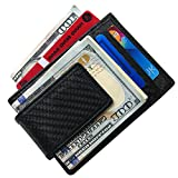 Carbon Fiber Money Clip RFID Mens Slim Wallet Strong Magnetic Front Pocket Wallet