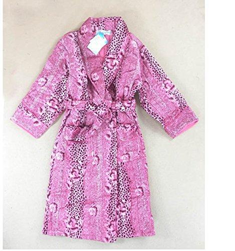 Kreativ 2014 New Bademäntel für Kinder Gold Samt gesteppte Nachthemd Schlafanzug / Bademantel / Winter lila Trainingsanzug Bademäntel Bademäntel für Kinder Nachthemd (M, L, XL) Füße Zufalls