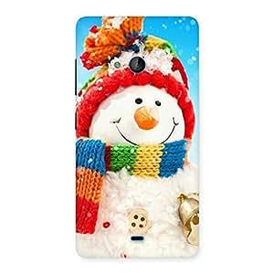 Premium Snowman Multicolor Back Case Cover for Lumia 540
