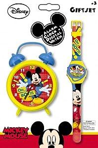 Disney Mickey Mouse 'Oh Boy' Alarm Clock And Wrist Watch Set