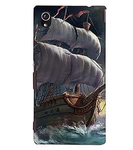 D KAUR Ship Back Case Cover for Sony Xperia M4::Sony Xperia M4 Aqua