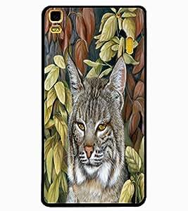ColourCraft Big Cat Look Design Back Case Cover for LENOVO K3 NOTE