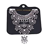 Zhenhui Vintage Design Silver Turkish Necklace for Women Bohemia Style
