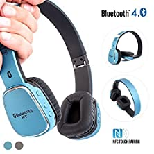buy Bluetooth On-Ear Headphones, Alpatronix® [Hx110: Extra Bass] On Ear Wireless Earphones Bluetooth 4.0 Headset With Nfc Touch Pairing, Microphone, Universal Volume & Playback Control, Noise Isolation & Reduction, Rechargeable Battery For Iphone 6S Plus 6S 6