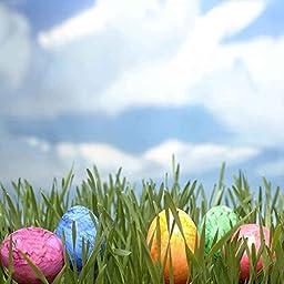 GladsBuy Distinctive Eggs 10\' x 10\' Digital Printing Photography Backdrop Easter Theme Anti-UV Studio Background YHB-146