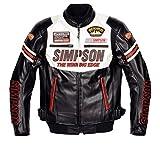 シンプソン(SIMPSON) ジャケット フェイクレザージャケット ホワイト 4L SJ-6133