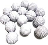 室内 練習 スポンジ ゴルフボール トレーニング 用品 ソフト ボール 景品 OK 15個 (白)