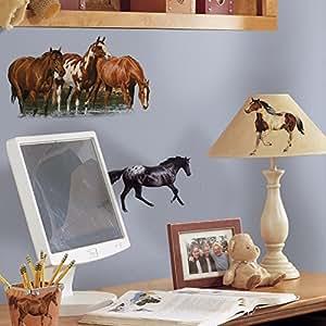 Amazon.com - RMK1017SCS Wild Horses Pelar y palo Tatuajes de pared -
