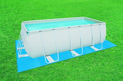 Bestway pool bodenschutz fliesen set for Garten pool bestway