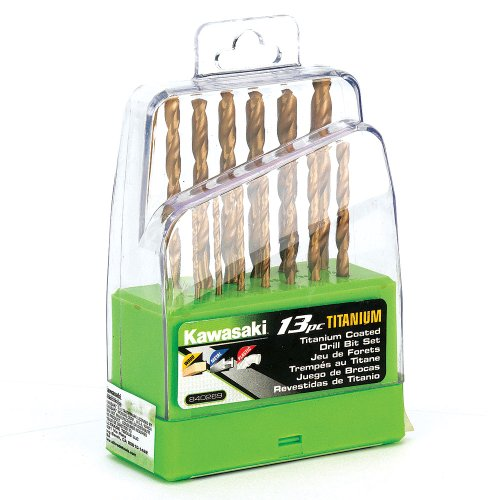 Kawasaki 840269 Titanium Drill Bit Set, 13-Piece (Kawasaki Drills compare prices)