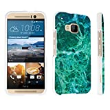 DuroCase ® HTC One M9 (Released in 2015) Hard Case White - (Jade Marble)