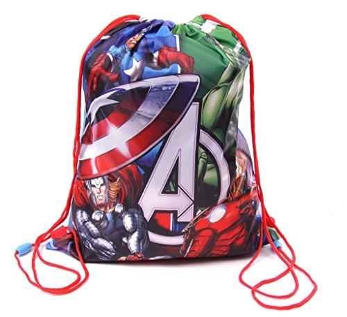 IMTD-Boys-CPT-America-Hulk-Iron-Man-Marvel-Comics-Avengers-Drawstring-PE-School-Holiday-Swimming-Bag