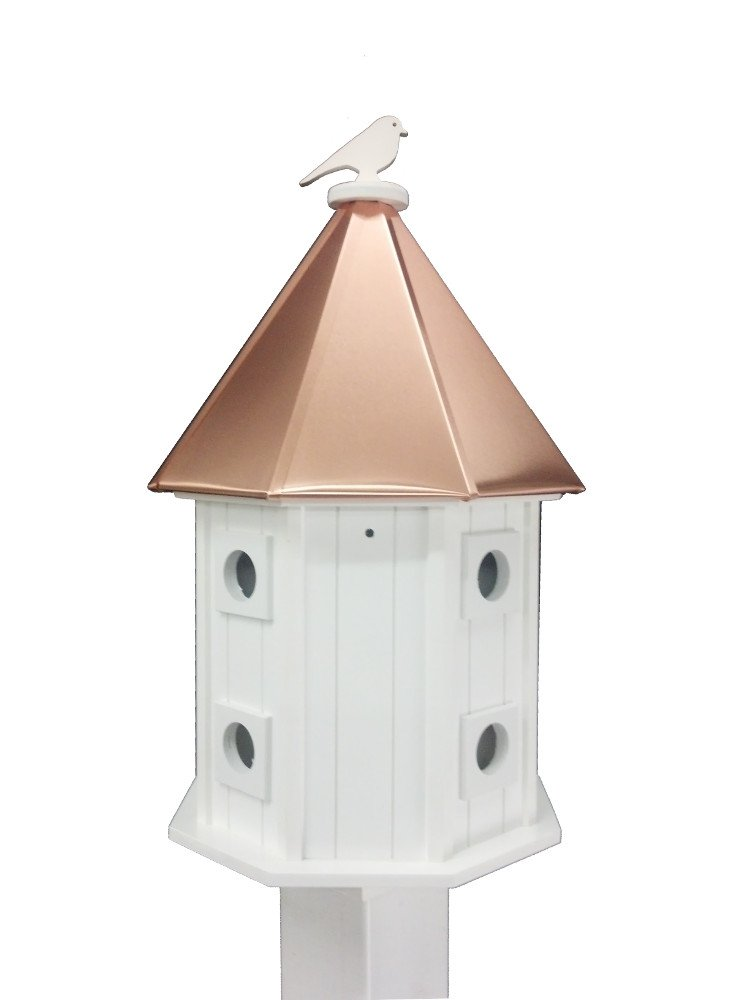 Amazon.com : Two-story Birdhouse Copper Roof : Bird Houses : Patio ...