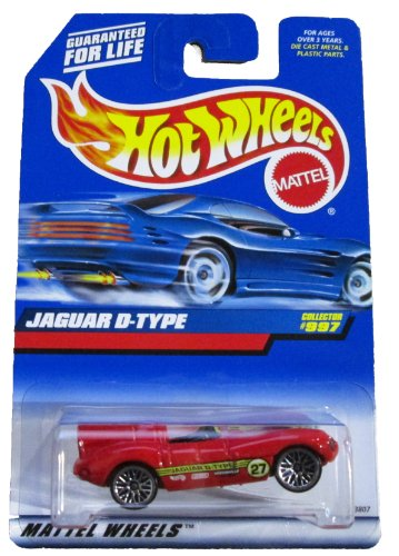 Mattel Hot Wheels 1999 1:64 Scale Red Jaguar D Type Die Cast Car Collector #997