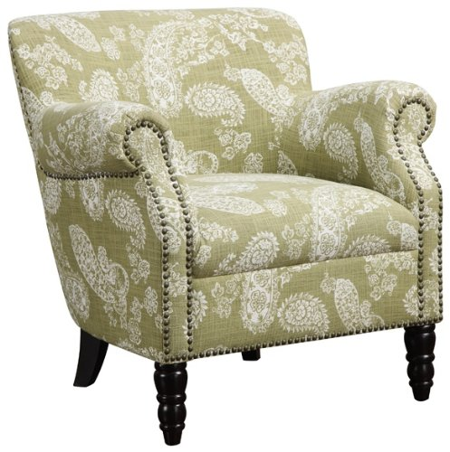 angelo:HOME Carissa Vintage Green Paisley Armchair