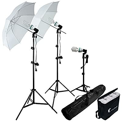 Photography Photo Portrait Studio 600W Day Light Umbrella Continuous Lighting Kit by LimoStudio LMS103