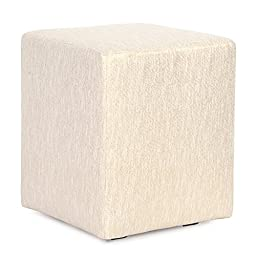 Howard Elliott C128-291 Replacement Cover for Universal Cube Ottoman, Glam Snow
