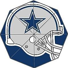 Custom Auto Foldable Umbrella with Dallas Cowboys Printed Design