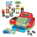 Kidzlane Interactive Electronic Cash Register Toy for Kids - 20+ Realistic Pieces Pretend Playset