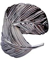 Yazilind large bracelet de manchette Ouvert Or Argent mšŠtal plaqušŠ Bracelet Feuille large: 2Dans Punk Style?