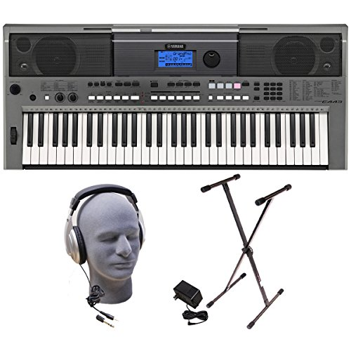 Yamaha Psr Series Psre443 Lighted Key Premium Keyboard Pack With Headphones, Power Supply And Stand