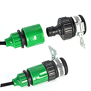 Kalolary 50ft Drip Irrigation Kits Accessories Plant Watering System Adjustable Home Garden Patio Misting Micro Flow Drip Irrigation Misting Cooling S