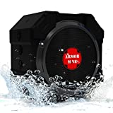 Bluetooth Speakers, Outdoor Wireless Waterproof: Armor MiNE ™ Smack Black Ultra Portable Speaker: Top Rated Louder Volume with More Bass | Best iPhone Speakers with Powerful Sound for Smartphone