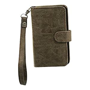Jo Jo A9 Classic Leather Carry Case Cover Pouch Wallet Case For Lava A52 Brown