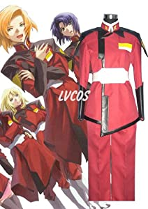 Mobile Suit Gundam Seed Z.a.f.t Red Uniform Japanes Cosplay Costumes (XS-Woman)