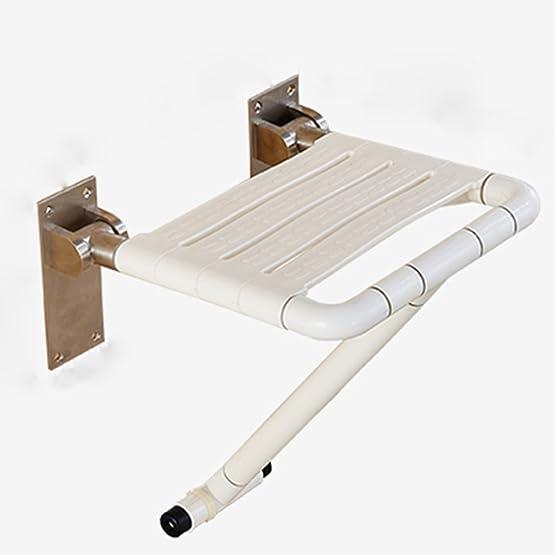 Sedia da doccia Piedini pieghevoli senza barriere Sgabello da toletta da bagno per anziani Sgabello da bagno per sale da bagno Sedile doccia