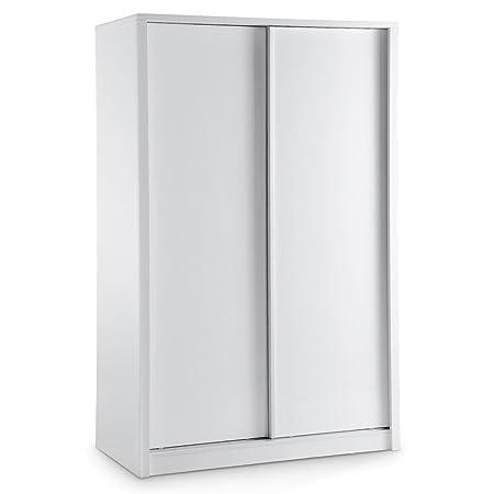 Novello armario deslizante acabado: blanco