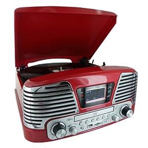 CD RADIO ENCODEUR USB 2.0 MP3 ROUGE METALLISE: High tech