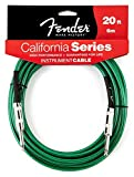 FENDER CALIFORNIA SERIE CABLE POUR INSTRUMENT 6M VERT Accessoires guitare Cable Cable instrument