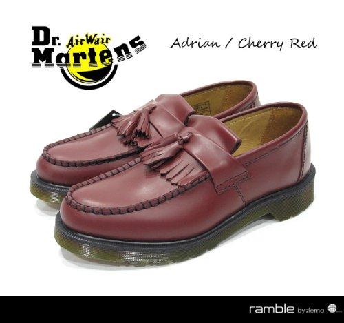 【Dr.Martens ドクターマーチン】ADRIAN TASSLE LOAFER タッセルローファー チェリーレッド (13843600)