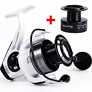 Spinning Fishing Reel Left Right Handle 13+1 Ball Bearings with Spare Spool