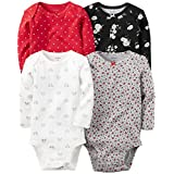 Carter's Baby Girls Multi-Pk Bodysuits 126g458, Assorted, 24M